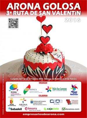 NOTA DE PRENSA: Los empresarios de Arona te enamorarán con la 3ª Ruta Golosa de San Valentín
