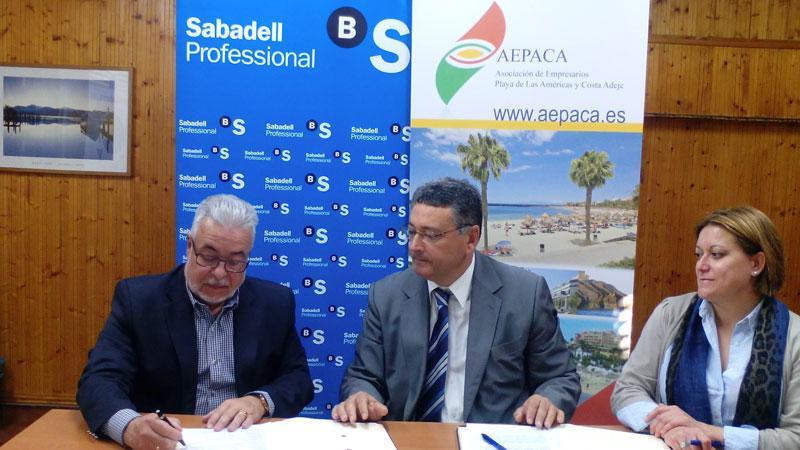 NOTA DE PRENSA: Convenio de Colaboracion entre AEPACA y Banco Sabadell