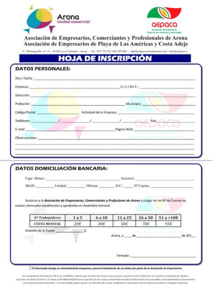 HOJA INSCRIPCION Conjunta AECPA AEPACA