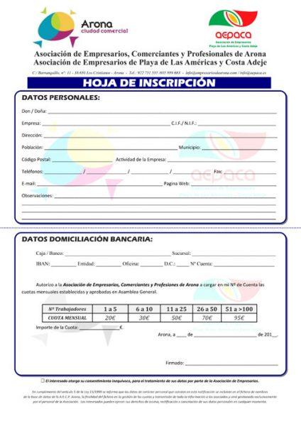 HOJA INSCRIPCION Conjunta AECPA AEPACA
