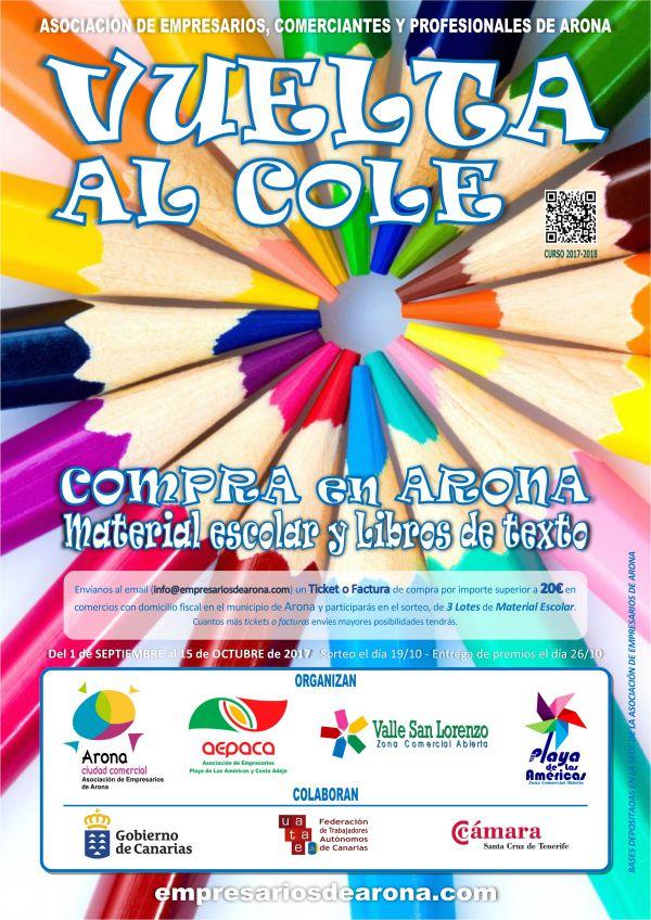 Sorteados lotes de material escolar con motivo de la campaña «Vuelta al cole» curso 2017-2018