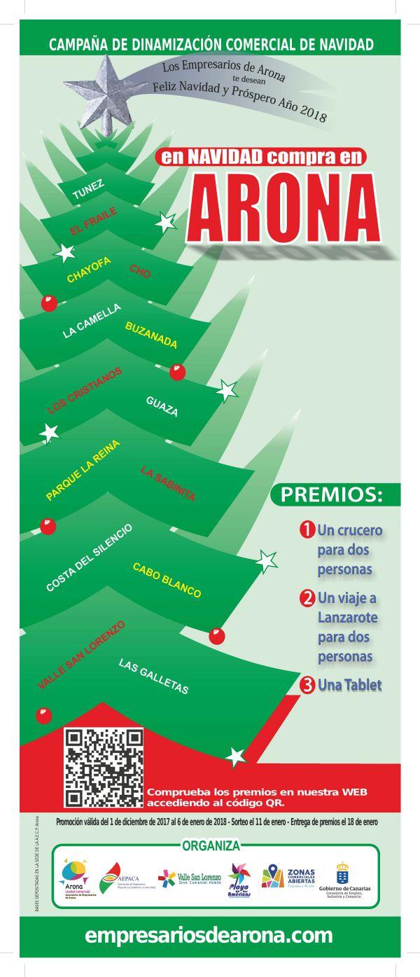 Los Empresarios de Arona y Adeje premiarán la fidelidad estas navidades