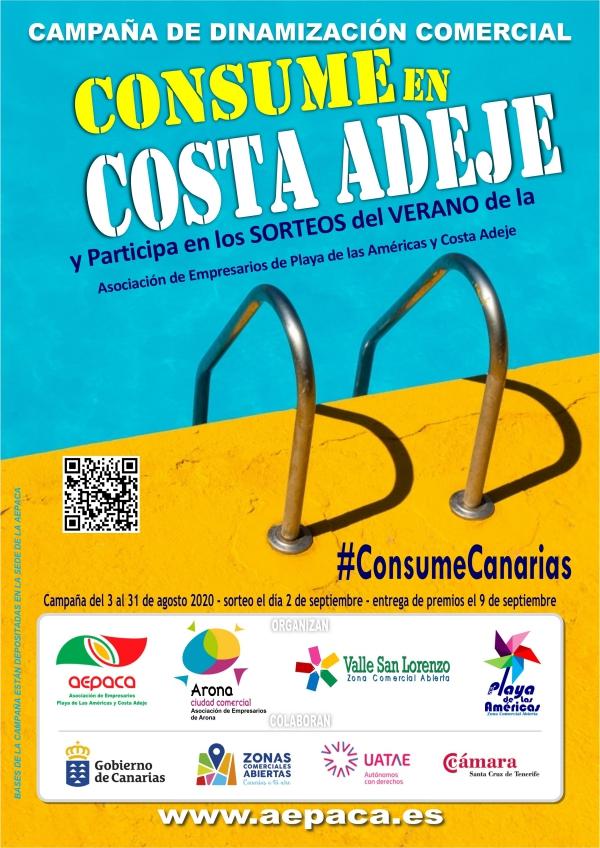 Los comercios de Arona, Costa Adeje y Playa de Las Américas premian el verano